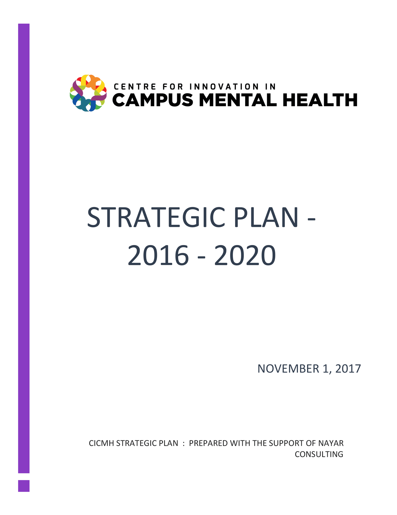 CICMH Strategic Plan 2016-2020