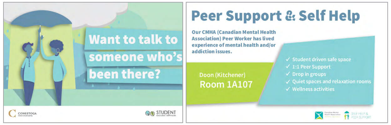 Conestoga Peer Support Postcards
