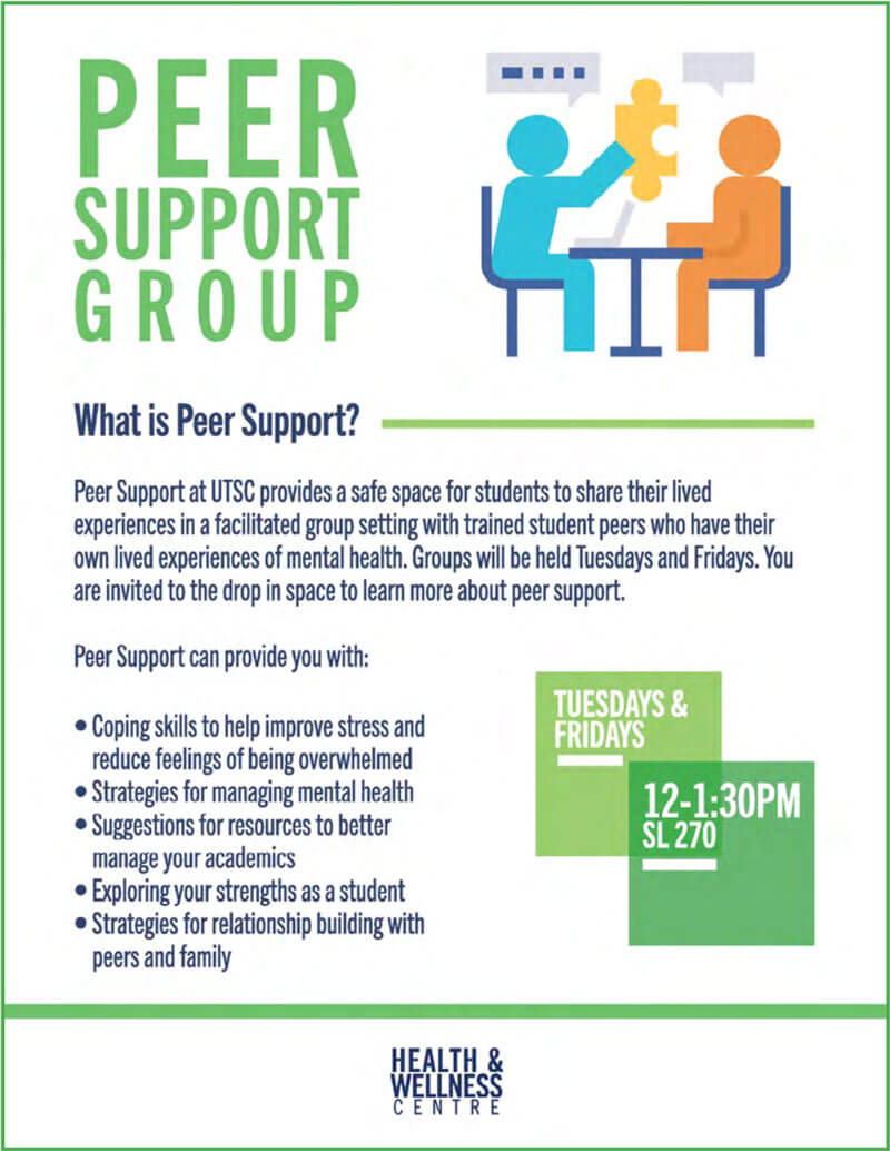 Peer Support Group Flyer